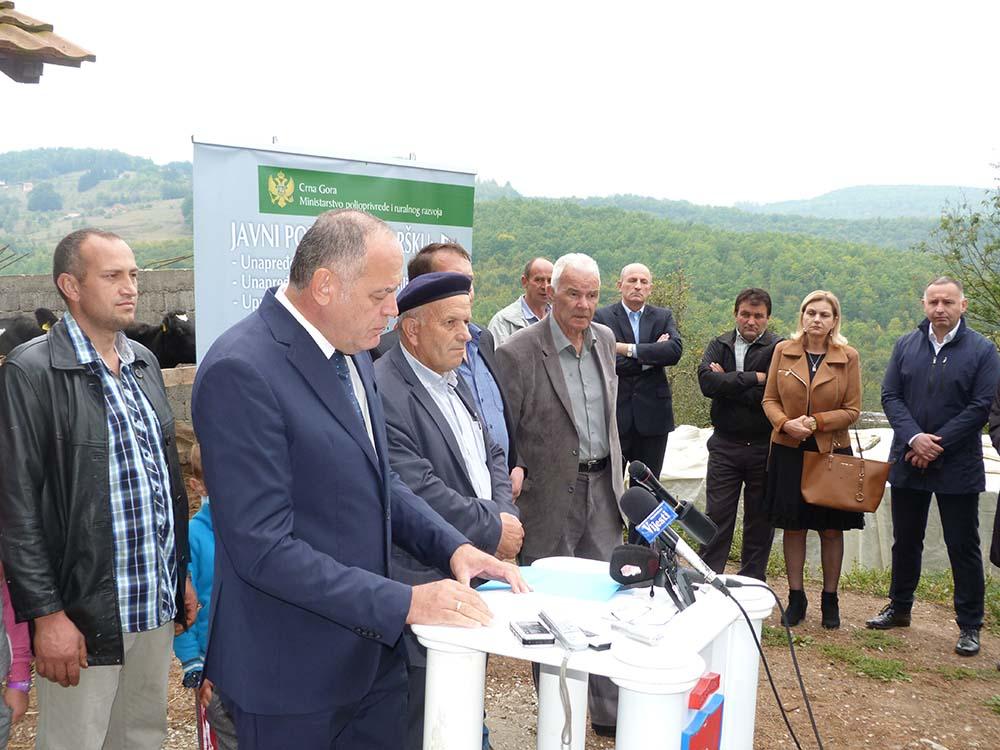Ministar poljoprivrede Simović boravio u radnoj posjeti Bijelom Polju
