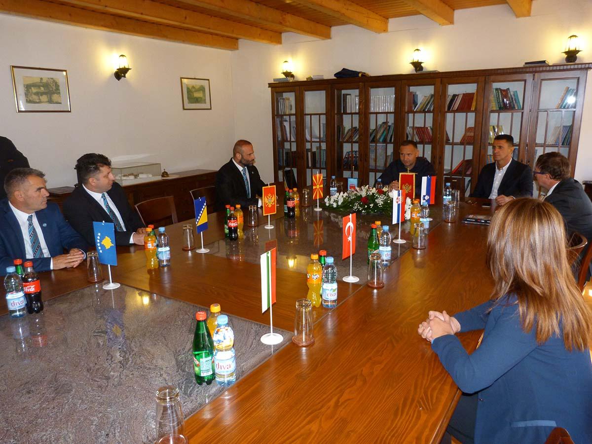 Predsjednik Žurić upriličio prijem za predstavnike kik boks saveza država učesnica Prvenstva Balkana
